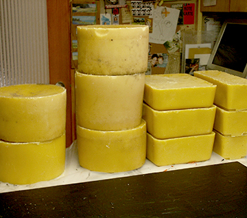 Beeswax from the apiary